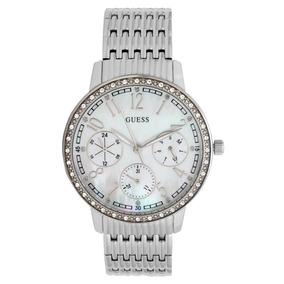 662a5749e5375 Relógio Guess Prata Com Cristais Swarovski - Relógios De Pulso no ...