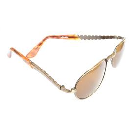 7a2e71bd89b36 Oculos Marrom Unissex C Metal Estiloso Pequeno Antigo F34