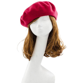 c8cbedcfcfe25 Sombrero Lana Dama Beanie Francés Mujer Invierno Artista