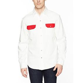 Calvin Klein Jeans Hombres Camisa De Mezclilla Occidental Bl