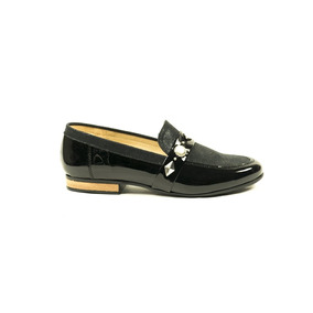 Zapato Berna By Lucerna Mocasin Charol Microfibra Negro