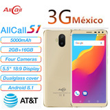 Allcall S1 3g Celular 5.5 Inch Android 8.1 2gb Ram 16gb Rom