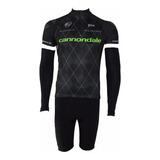 Conjunto Ciclismo Berm.+ Camisa + Manguito Cannondale 2019