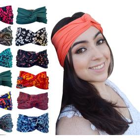 Kit 3 Turbante Faixa Headband Pinup Tiara Estampadas Trilhem