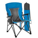 Cadeira Camping Em Aço Extra Grande Porta Copos Até 147 Kg