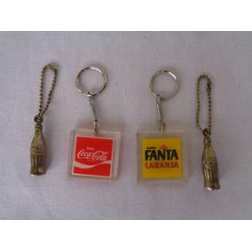 Chaveiros Coca Cola E Fanta Lote Com 4