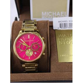 Relógio Michael Kors Fundo Rosa Original - Relógios De Pulso con ... 01828ffc6a