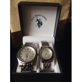 Relojes U.s. Polo Assn. Version De Mujer Y Hombre, Plateados