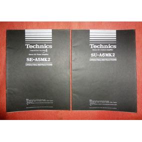 Pre-amplificador Technics Su-a6mk2 - Manual Do Usuário