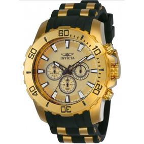 Relógio Invicta Pro Diver 22558 Novo Ouro Original