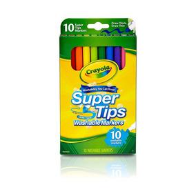 Canetinha Ponta Fina Lavável Super Tips 10 Cores Crayola