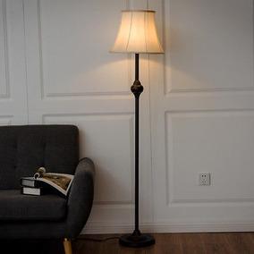 Lámpara De Pie Moderna Bronce Luz Iluminación Decoración...