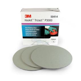 Kit Com 10 Discos Trizact 3000 - 3m - Lixa 3m - P3000
