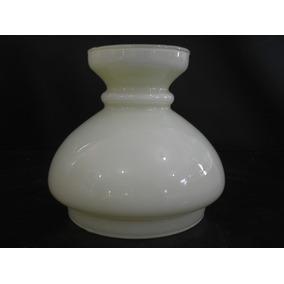 Cúpula Colarinho 13,5 Cm Leitosa Para Lustre Lampião Abajur