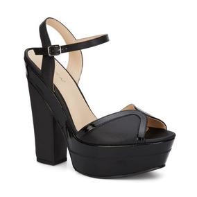 Sandalias De Correas Con Tacon - Zapatos Negro en Mercado Libre México ab43dc5c9e41