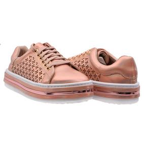 Tenis Zapato Casual Para Mujer Erez Plata Y Rosado