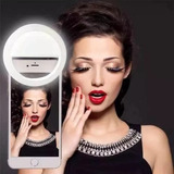 Luz De Selfie Ring Light Anel Led Flash Celular Recarregável