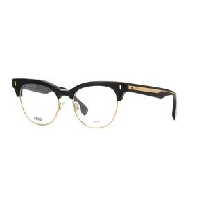 Óculos Gatinho Preto E Branco Fendi Armacoes - Óculos no Mercado ... a60017f325