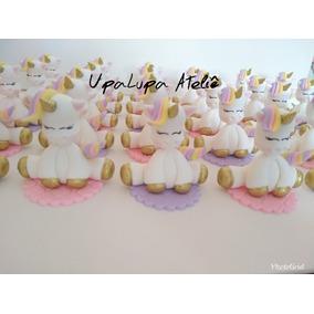 12un Lembrancinha Aplique Unicornio Aniversario Biscuit