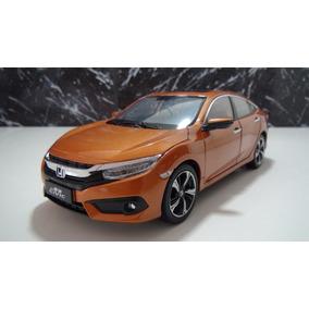 Honda Civic Mk10 Ano 2016 Cor Laranja Esc 1:18