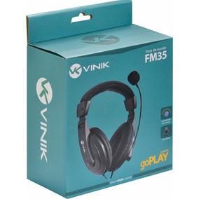 Fone De Ouvido Vinik Headset Go Play Fm35 Preto