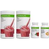 Kit Herbalife 02 Shakes+01 Cha Herbal 100g + 01 Chá Nrg 100g