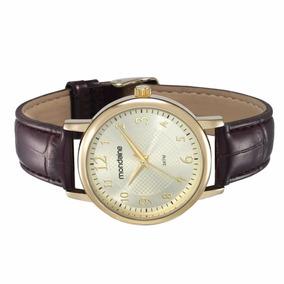 eec19ec395fef Relogio Mondaine Pulseira Couro Marrom - Relógios no Mercado Livre ...
