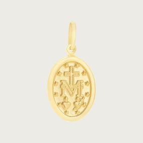 Pingente Medalha Milagrosa Em Ouro 18k Frete Grátis Vj1841 - Joias e ... 52466967c2
