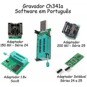 Gravador Usb Ch341a + 3 Adaptadores 1.8v + 150mil + 208mil