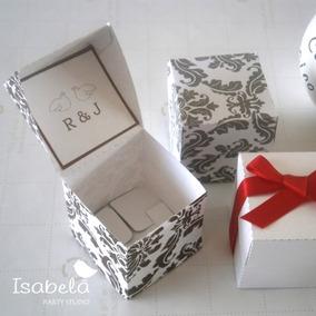 Paquete Cajitas Carton Acetato Recuerdos Dulces Boda Caja