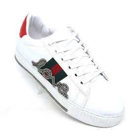 Tênis Novidade Gucci Ace Love Branco Strass Barato 1b6e5529196
