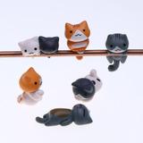 Pack 6 Gatitos Colores Micro Cute Decoracion Regalo