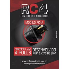 Conector Rc4a (áudio) 4 Polos/4 Vias