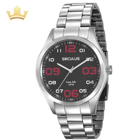Relógio Seculus Masculino 28857g0svna1 Com Nf