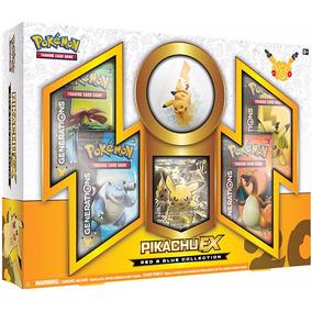 Pokémon Gerações Coleção Red Blue Pikachu Ex Cards Box