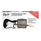 Pack Squier Fender Strat Paquete Ss Corto-escale Para Niños