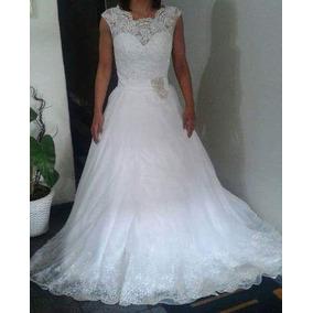Vestido De Noiva Estilo Princesa. Veste 36/38. Lindissimo.
