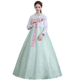 f7bb5029c Xinfu Mujeres Coreanas Tradicionales De Manga Larga Vestido