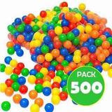 Pack 500 Pelotas Plásticas Para Piscina Colores / Lhua Store
