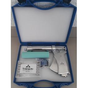 Seringa Veterinária Pistola 50ml Completa Triângulo Maleta