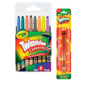 Kit Escolar 8 Crayolas Twistables+2 Lapices Checador Crayola