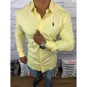 Camisa Social Ralph Lauren Amarela - Calçados 22f26158cf3