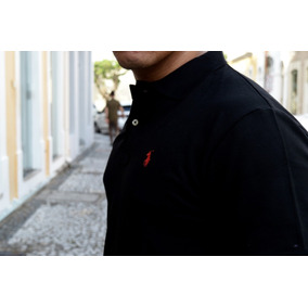 Camisa Polo Preta Polo Ralph Lauren Slim Fit Tam P - Calçados ... 7ba6880f6b992