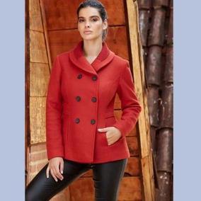 Abrigos mujer color rojo
