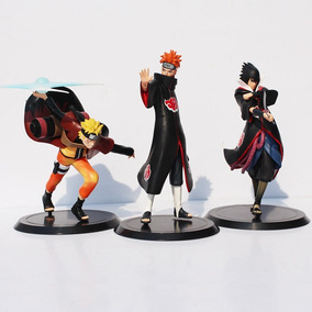 Kit 3 Figure Action Boneco Naruto Sasuke Pain Shippuden