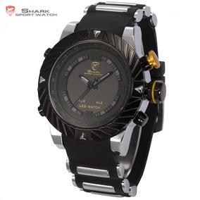 Relógio Masculino Shark Original Analogico/digital Led Watch