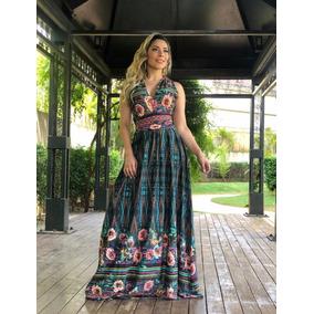 Vestidos Femininos Evangélicos Longos Estampados Paloma