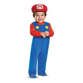 Disfraz - Mario Bross - Disfraces Para Bebe - Talla : 12-18m
