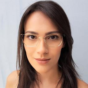 88d29906faf13 Armação De Óculos De Grau Metal Feminino Dourado E Preto. 3 cores. R  118