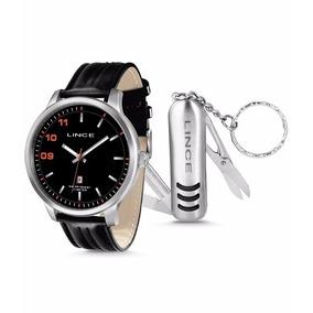 Kit Relógio Masculino Lince Mrch031-p2px Analógico Calendári